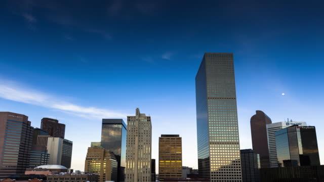 downtown denver skyline timelapse - denver stock videos and b-roll footage