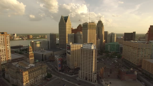 Downtown Detroit Aerial