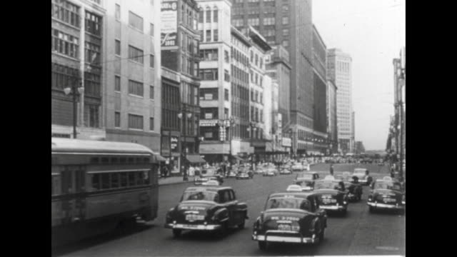 1952 downtown detroit - prelinger stock videos & royalty-free footage