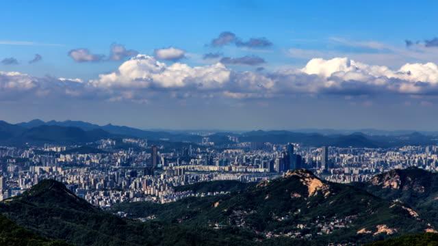 stockvideo's en b-roll-footage met downtown district around yeouido island / mapo-gu, yeongdeungpo-gu, seoul, south korea - straatnaambord
