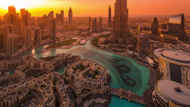 Downtown Dubai, Nightfall
