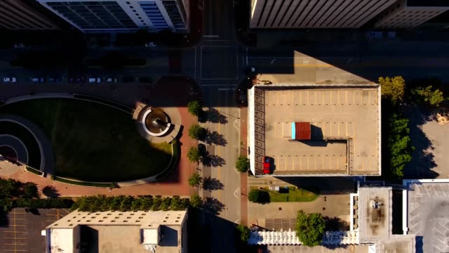 downtown flight - oklahoma stock-videos und b-roll-filmmaterial