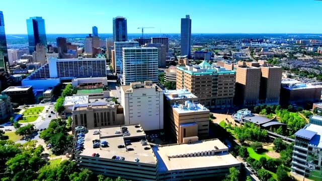 stockvideo's en b-roll-footage met downtown ft. worth, tx - stadsdeel