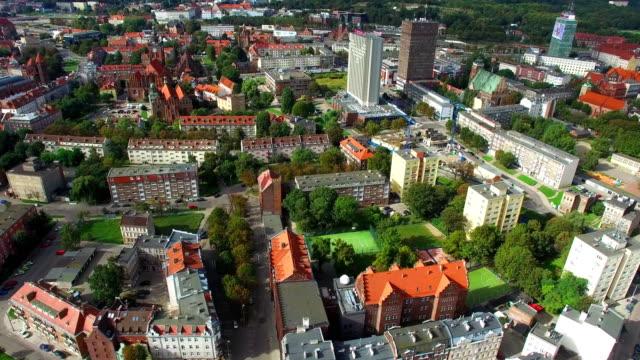 downtown gdansk poméranie poland - poland stock videos and b-roll footage