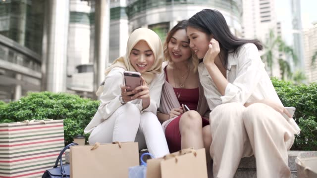 downtown girls - malaysian ethnicity stock videos and b-roll footage