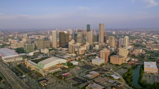 aerial downtown houston in houston, texas - southwest usa stock videos & royalty-free footage