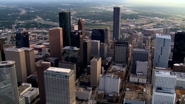 downtown houston, texas. shot in 2007. - artbeats stock videos & royalty-free footage