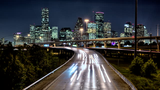 Downtown Houston Traffic Timelapse