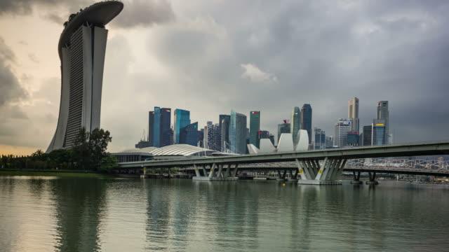 Le centre-ville de à jour nuageux