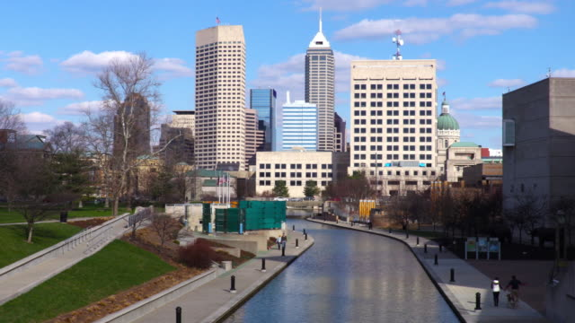 downtown indianapolis timelapse - indiana stock videos & royalty-free footage