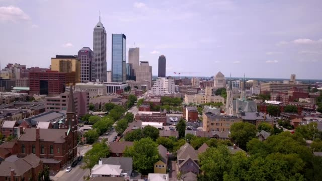downtown indianapolis - indianapolis stock videos & royalty-free footage