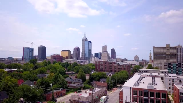 downtown indianapolis - indiana stock videos & royalty-free footage