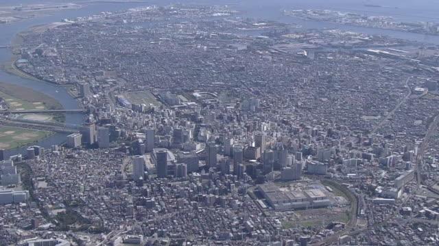 AERIAL Downtown Kawasaki City, Kanagawa, Japan
