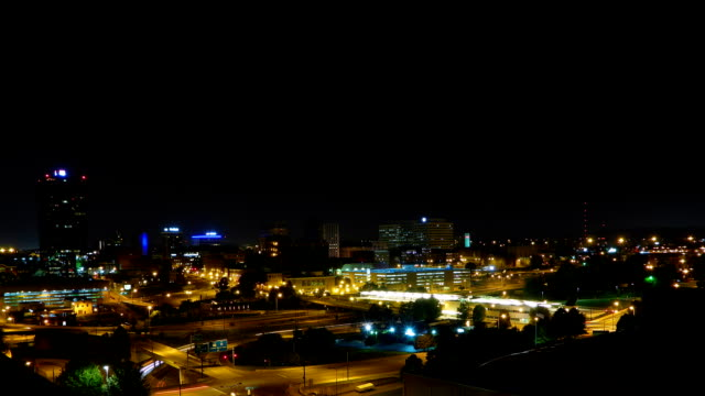 downtown knoxville tennessee night time lapse - university of tennessee stock videos and b-roll footage
