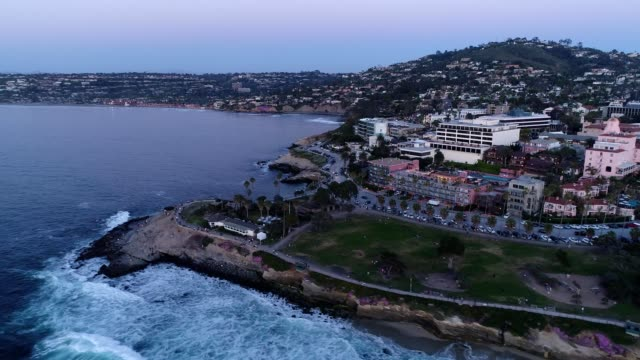 downtown la jolla from the park - san diego stock videos and b-roll footage