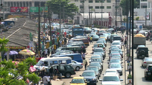 downtown lagos, nigeria - nigeria stock videos and b-roll footage