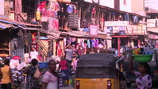 downtown lagos, nigeria - population explosion stock videos & royalty-free footage