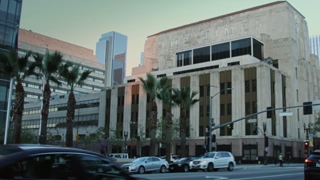 downtown la landmarks pan - concert hall stock videos and b-roll footage
