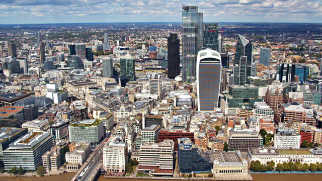 downtown london main famous buildings. london, uk - panoramic stock videos & royalty-free footage