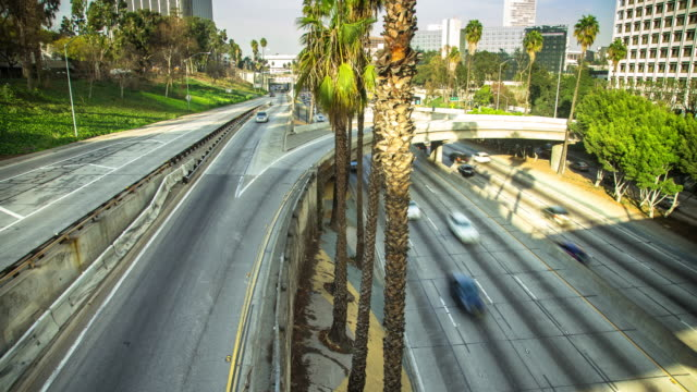 Downtown Los Angeles 110 Freeway Timelapse