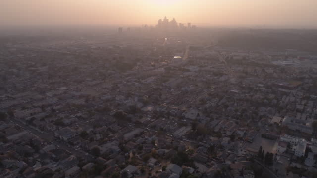 Downtown Los Angeles Aerial Cityscape