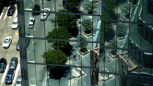 Die Innenstadt von Los Angeles-Glas-Wolkenkratzer