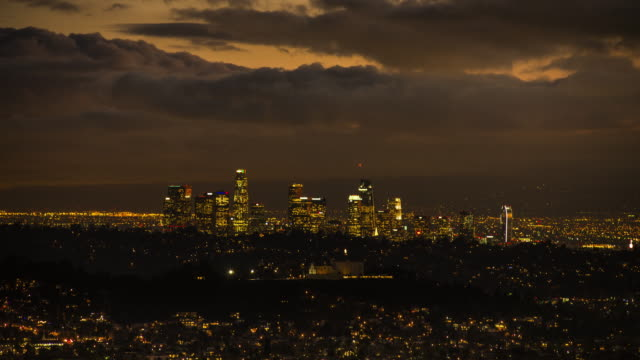 Downtown Los Angeles Time Lapse Dusk to Dark