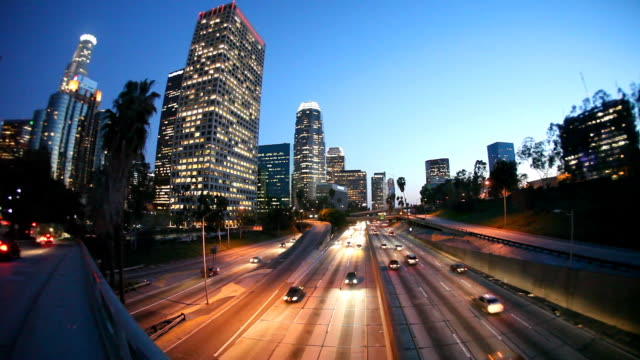 downtown los angeles (timelapse) - 運輸 個影片檔及 b 捲影像