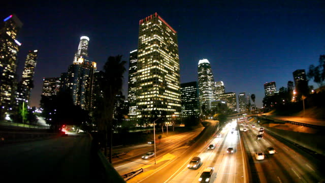 hd: downtown los angeles (timelapse) - angeles national forest stock videos and b-roll footage