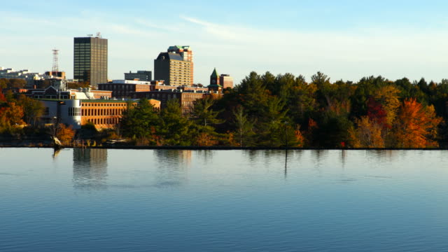 Downtown Manchester, New Hampshire along the Merrimack River