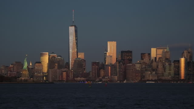 Downtown Manhattan across the Hudson River, New York, Manhattan, United States of America