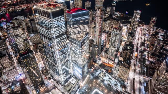 t/l ws ha zi 曼哈頓市中心夜晚 / 美國紐約市 - high street 個影片檔及 b 捲影像