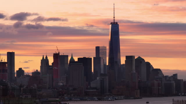 Downtown Manhattan at Sunrise on a December Morning