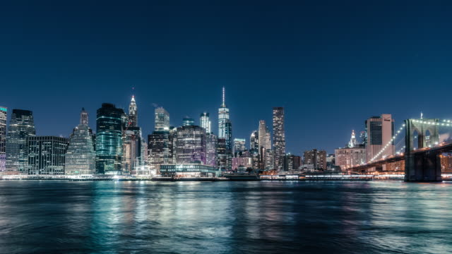 t/l downtown manhattan / new york, usa - skyline stock videos & royalty-free footage