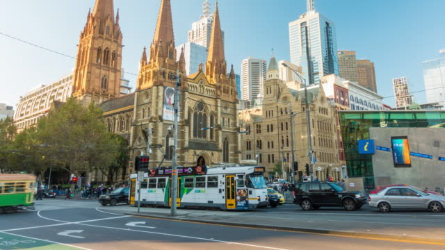 Downtown Melbourne in Australia