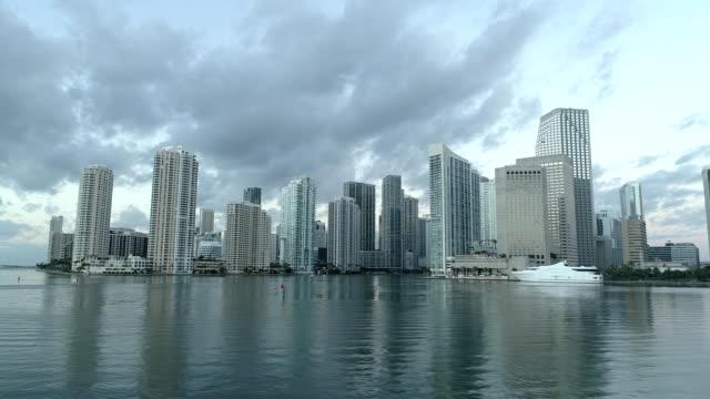 Downtown Miami Florida from Dodge Island