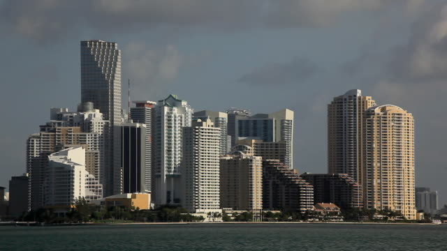 downtown miami - commercial sign stock videos & royalty-free footage