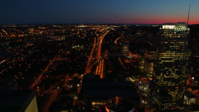 Downtown Montreal at sunset