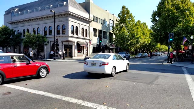 downtown mountain view - silicon valley stock videos and b-roll footage