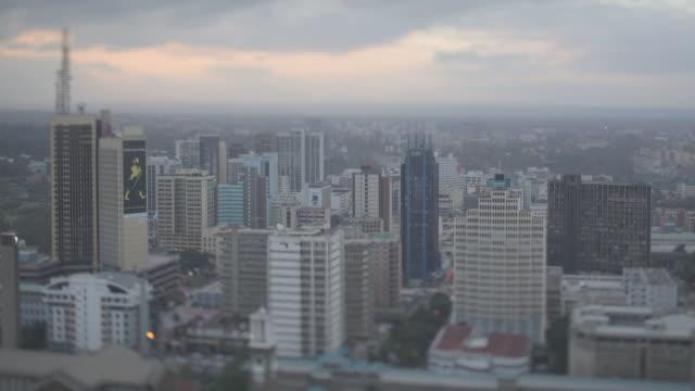 downtown nairobi sunset timelapse - nairobi stock videos and b-roll footage