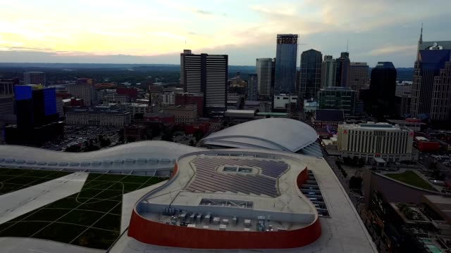 downtown nashville from the nashville music city center - nashville stock videos & royalty-free footage