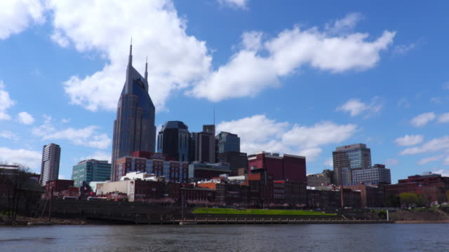 downtown nashville skyline - nashville stock videos and b-roll footage