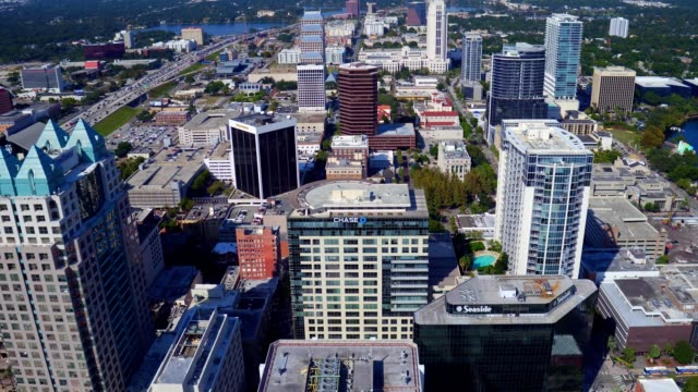 downtown orlando aerial - orlando florida stock videos & royalty-free footage