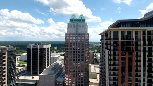 downtown orlando, florida, suntrust center building - orlando florida stock videos & royalty-free footage
