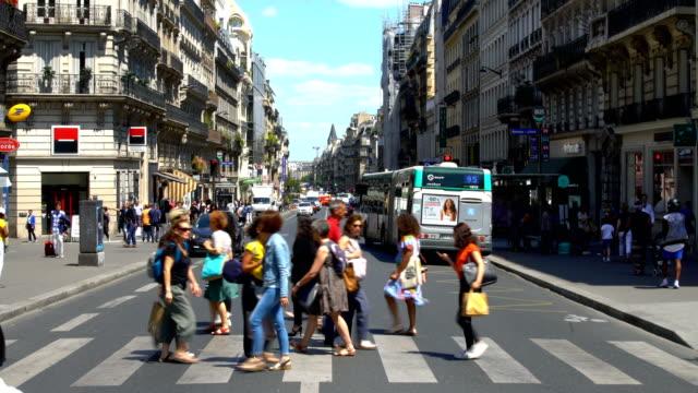 vidéos et rushes de centre-ville de paris, time lapse - accéléré du trafic