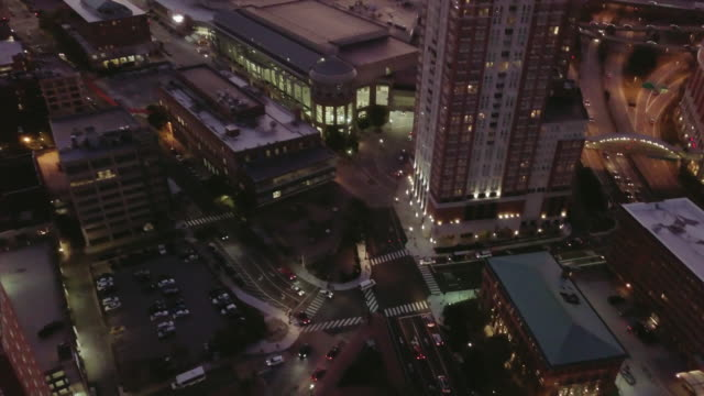 Downtown Providence Rhode Island Aerial Footage