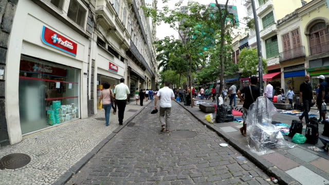downtown rio de janeiro - dolly shot stock videos & royalty-free footage