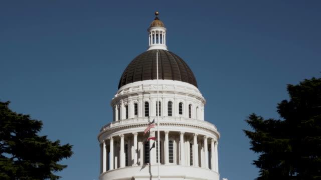 ダウンタウン サクラメント カリフォルニア キャピタル ドーム ビルディング - 長点の映像素材/bロール