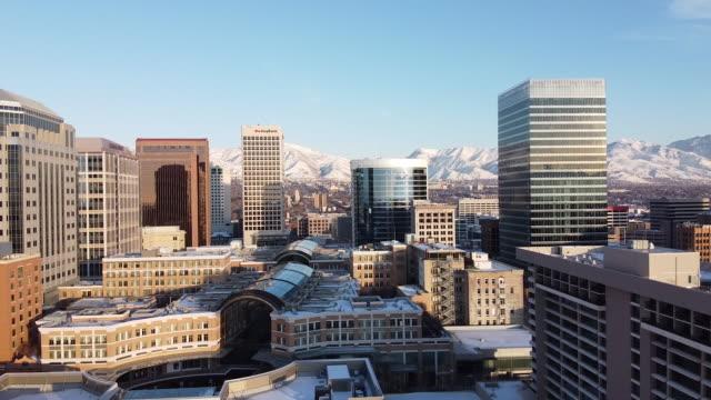 downtown salt lake city utah - western usa stock videos & royalty-free footage