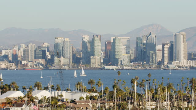 downtown san diego - harbour stock videos & royalty-free footage